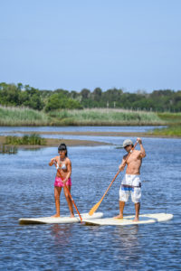 paddleboarding on shelter island